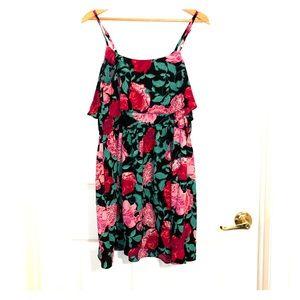 Floral layer dress